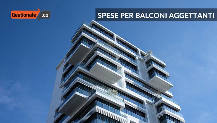 Chi paga le spese di manutenzione dei balconi aggettanti? - Gestionale.co