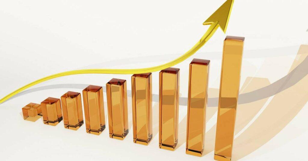 grafico crescita finanza