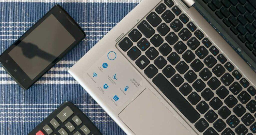 computer con calcolatrice
