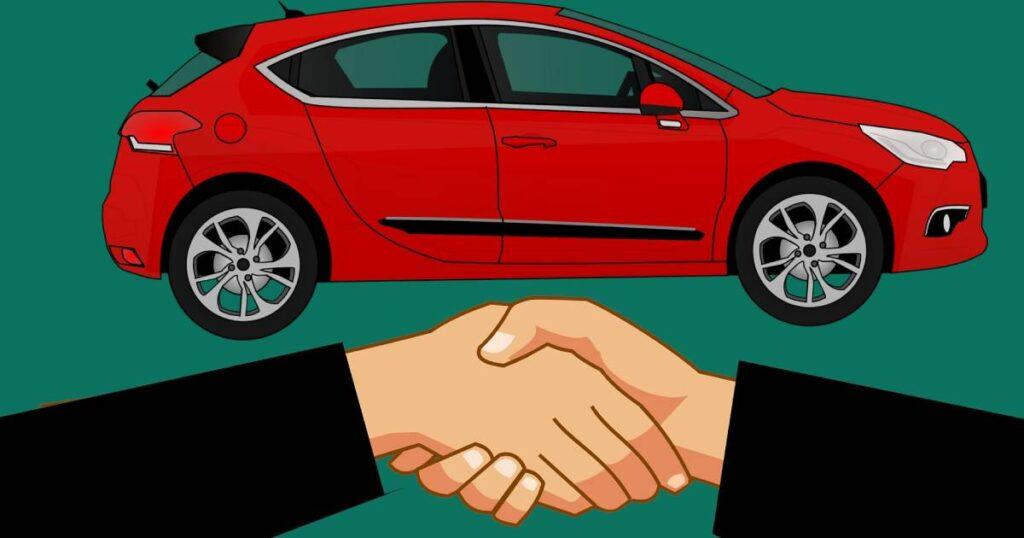 stretta di mano per acquisto auto